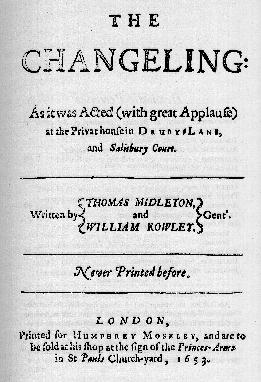 sc 1 st  Tech.org & The Changeling by Thomas Middleton and William Rowley